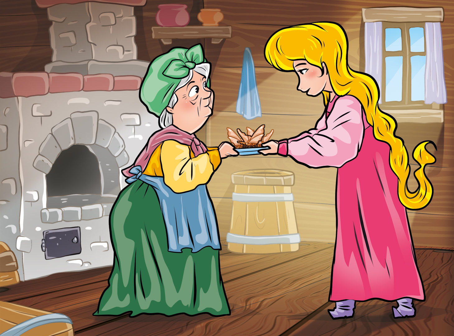 выросла, картинки сказки ведьмина дочка провожать